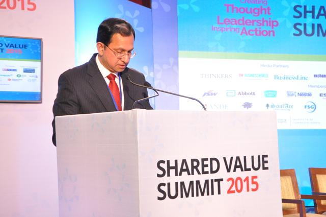Suresh Narayan shares his views at the Shared Value Summit